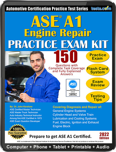 ASE A1 (Engine Repair) Practice Test Kit