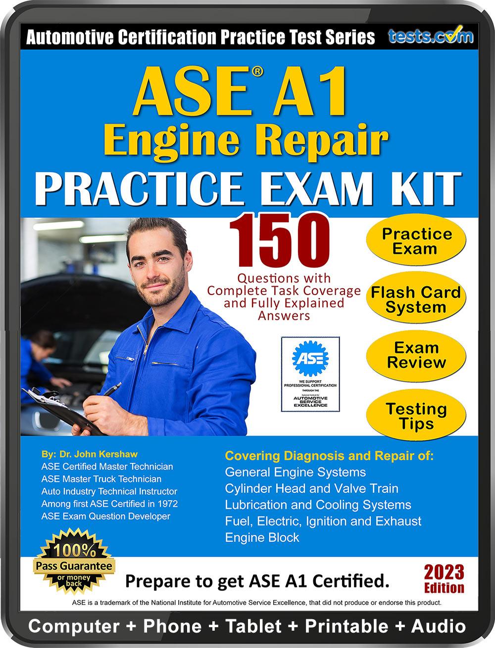 Ase A1 Engine Repair Practice Test Kit
