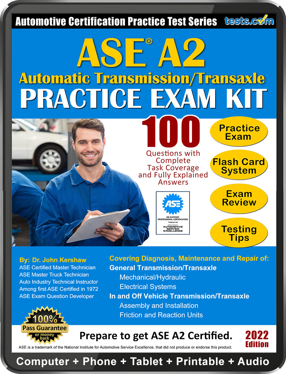 ase practice test a2 study tests certification pass material exam money questions sample explained kit guaranteed expert written answers