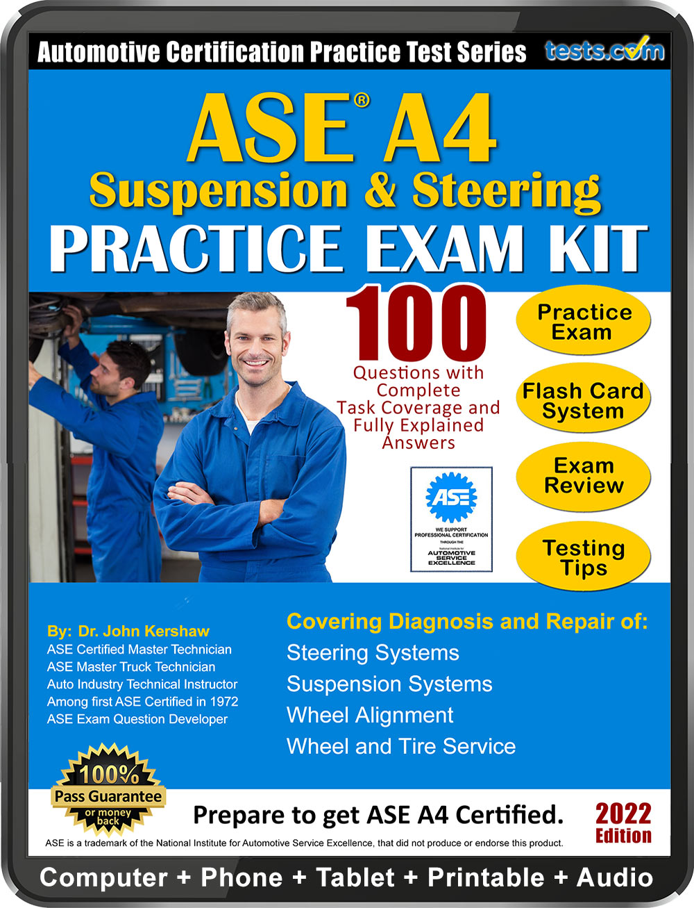 ase practice test a4 questions exam pass tests certification answers expert kit suspension study guaranteed written material money terms