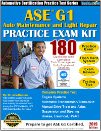 ASE-G1 Auto Maintenance Light Repair Practice Test Kit