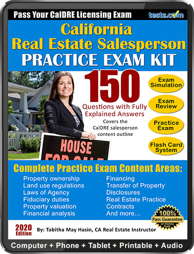 California Real Estate Agent License Exam - CalDRE