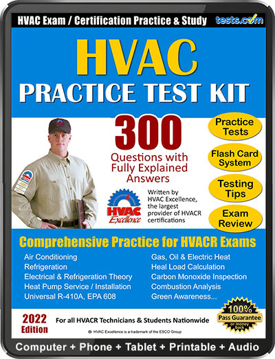 HVACR Practice Test Kit