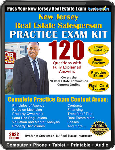 New Jersey Real Estate Salesperson Practice Exam 2020 Updated
