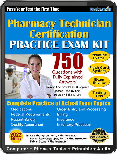 Free Pharmacy Tech Practice Test, Pharmacy Tech Exam - PTCB / ExCPT