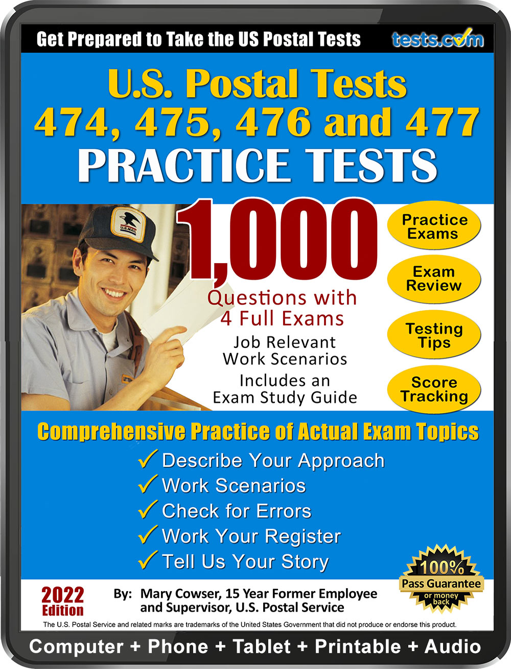 Administered by the United States Postal Service, the 473 Exam is the exam  that all entry-level postal applicants must pass before they can begin  working.