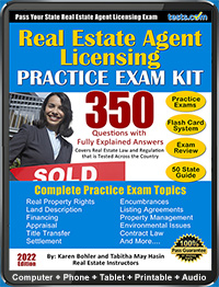 Real Estate Agent License Practice Test Kit