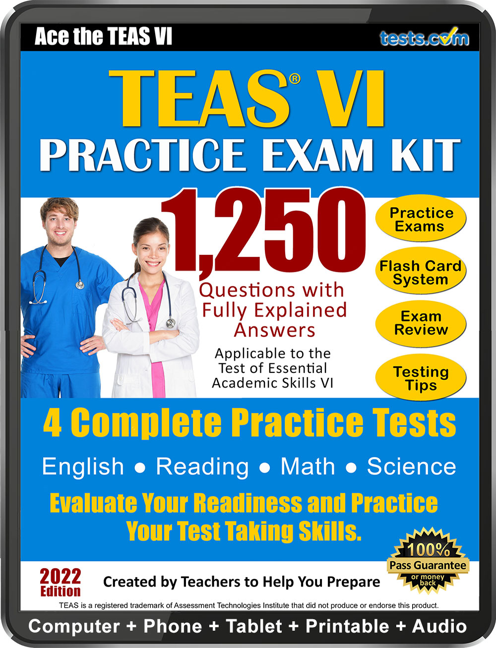 Complete practice test for the teas v nursing school preparation prepare for the teas vi using this expert written practice exam with answers fully explained for ideal study fandeluxe Choice Image