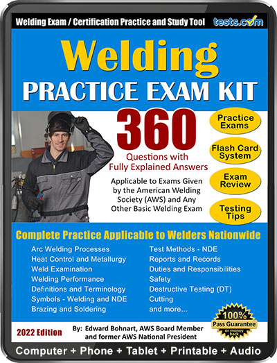Welding Practice Exam 2019 Updated