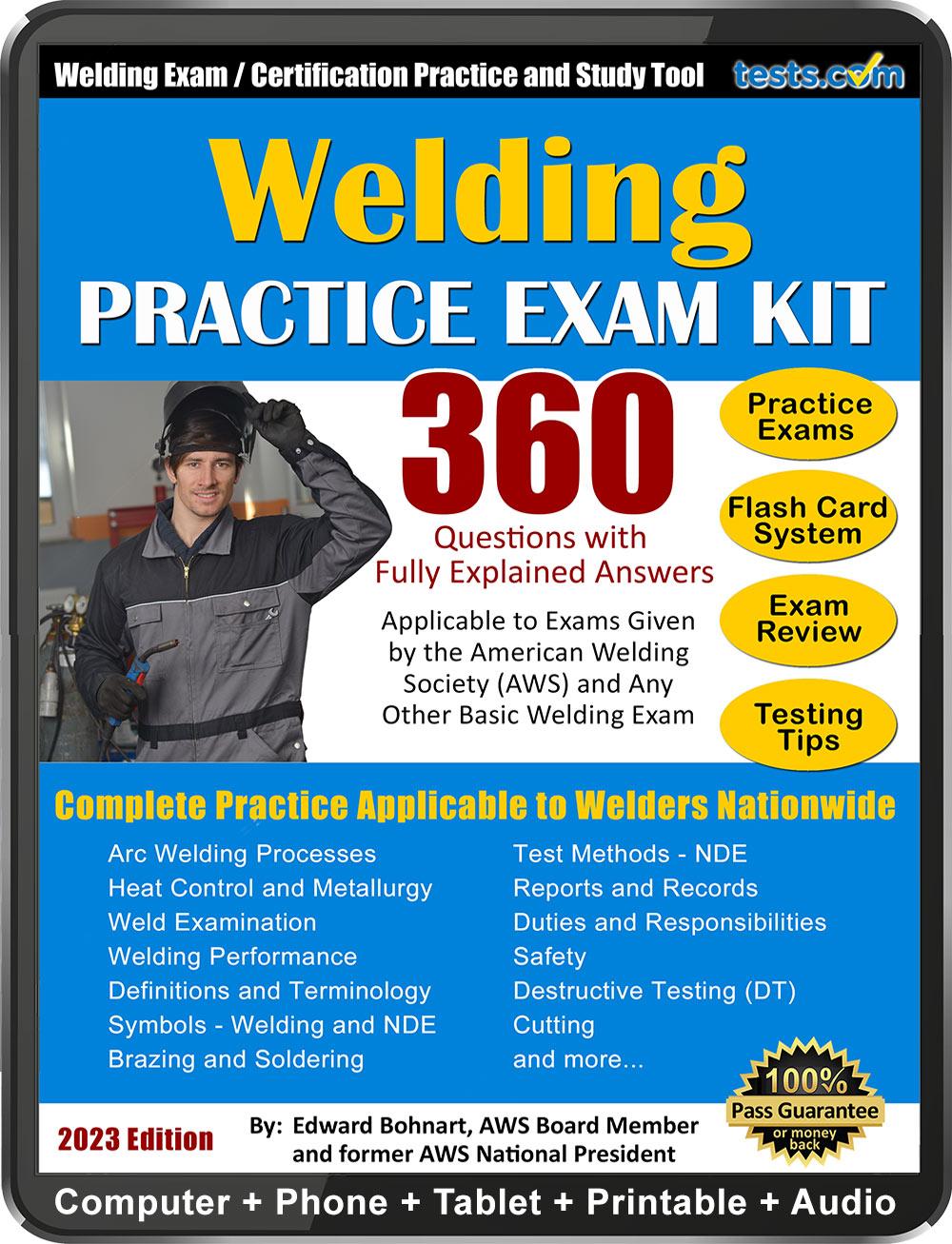 Welding Certification Practice Exam Kit