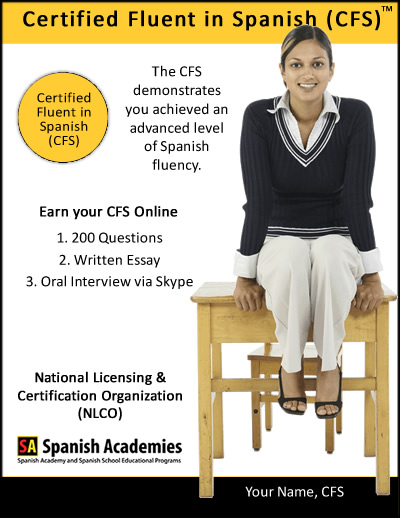 Spanish Fluency Certification