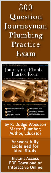 Journeyman Plumber Practice Test Sample Questions